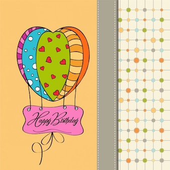 Carte joyeux anniversaire avec le ballon