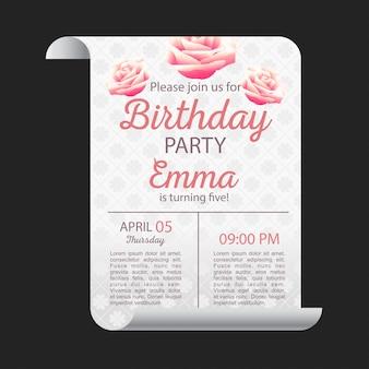Carte de joyeux anniversaire avec un design élégant et fond sombre