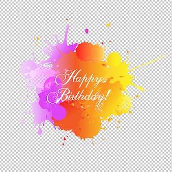 Carte de joyeux anniversaire en forme de blobs
