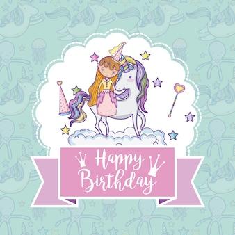 Carte de joyeux anniversaire pour les filles