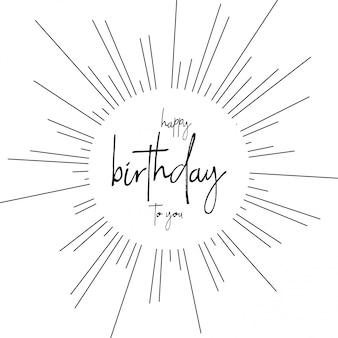 Carte de joyeux anniversaire avec vecteur de typogrpahy
