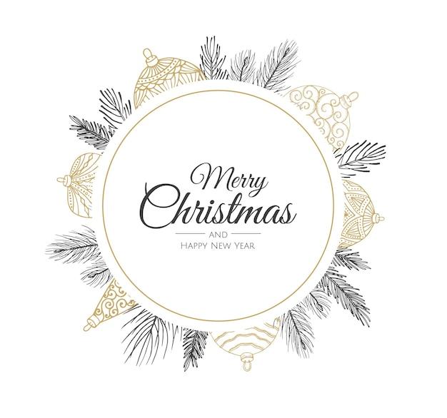 Carte de joyeux noël et bonne année