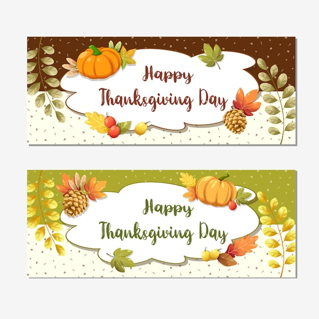 Carte de joyeux thanksgiving day ou flyer avec noix