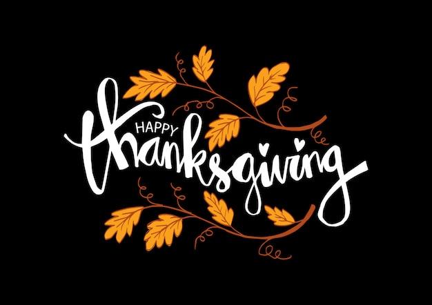 Carte de joyeux thanksgiving