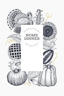 Carte de joyeux thanksgiving