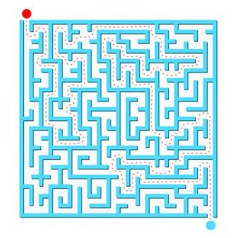 Carte de labyrinthe 2d bleue