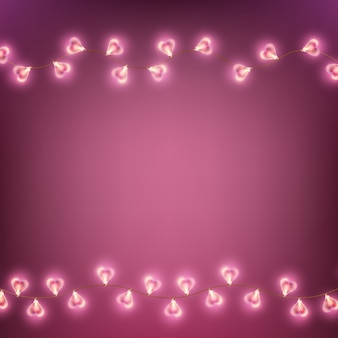 Carte de lampe happy valentines day garland.