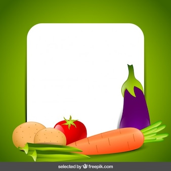 Carte avec des légumes