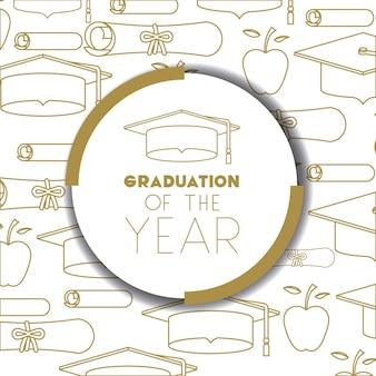 Carte de lettrage avec graduation