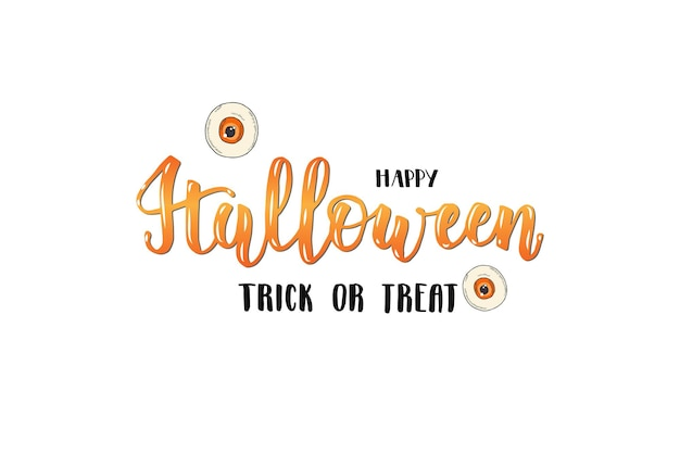 Carte de lettrage halloween -