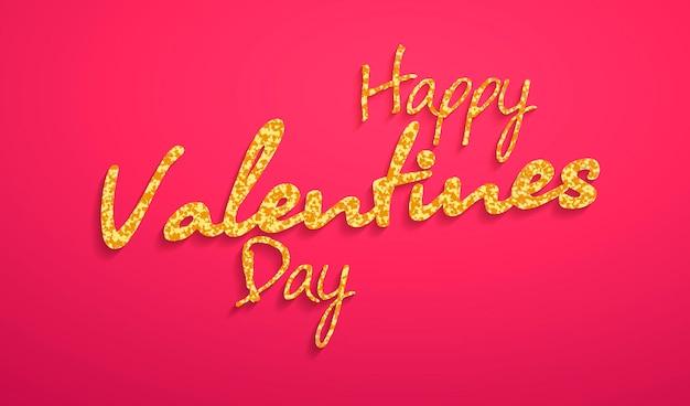 Carte de lettrage happy valentine s day. illustration vectorielle.