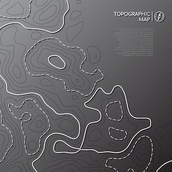 Carte de ligne topographique abstraite.