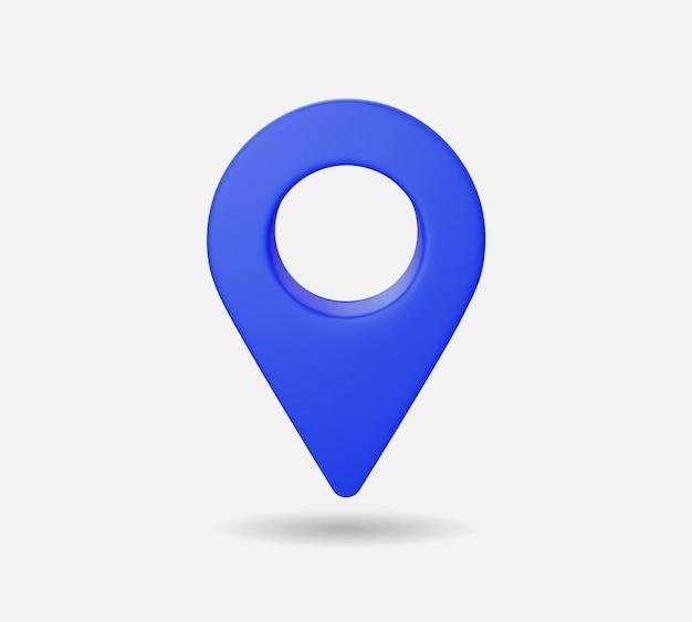 Carte de localisation 3d réaliste, marqueurs de pointeur gps, illustration vectorielle pour la destination.