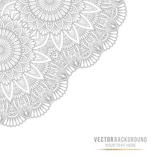 Carte de mandala ou invitation avec éléments décoratifs vintage