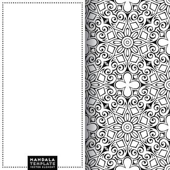 Carte de mandala avec motif d'éléments décoratifs ethniques