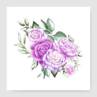Carte de mariage bouquet aquarelle