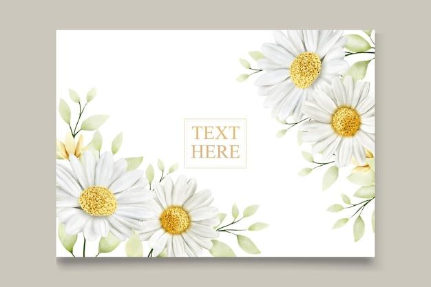 Carte de mariage chrysanthème aquarelle