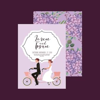 Carte de mariage de couple
