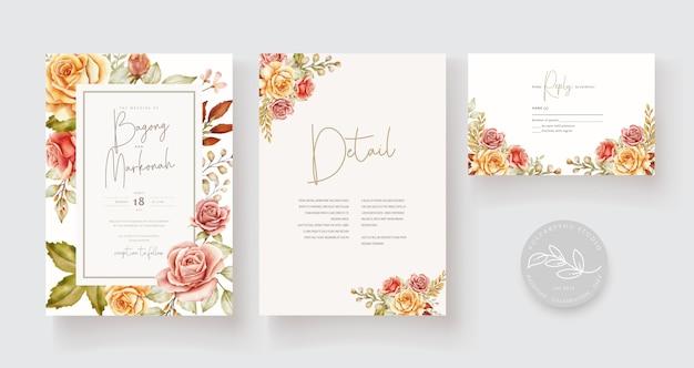 Carte de mariage dessiné à la main