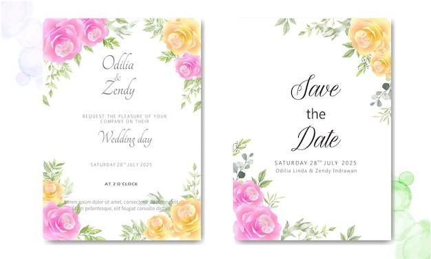 Carte de mariage élégante et belle