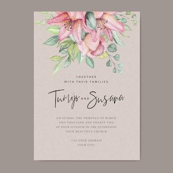 Carte de mariage floral aquarelle