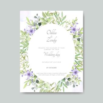 Carte de mariage floral élégant et beau