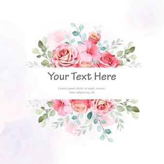 Carte de mariage magnifique bouquet