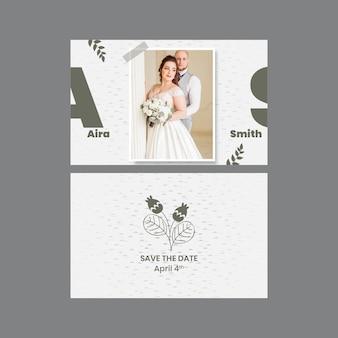 Carte de mariage minimale