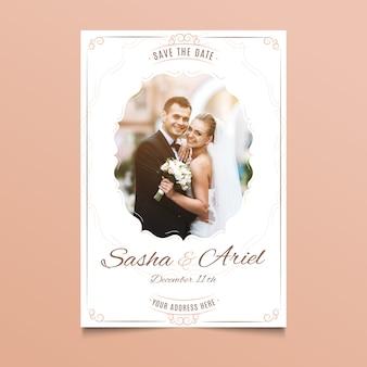Carte de mariage avec photo de couple