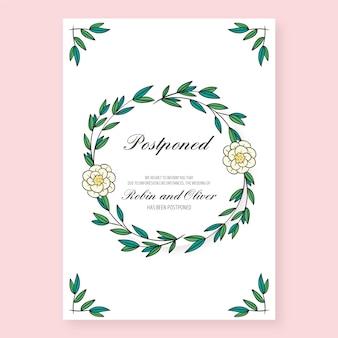 Carte de mariage reportée dessinée à la main