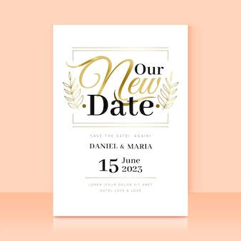 Carte de mariage reportée typographique