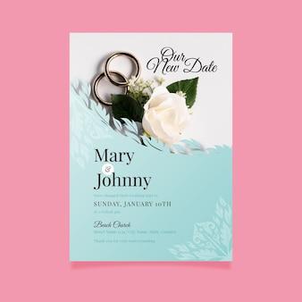 Carte de mariage reportée