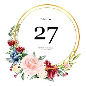Carte de mariage de table
