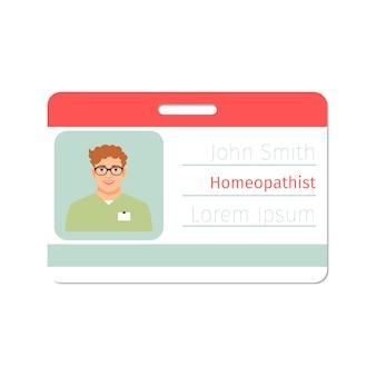 Carte de médecin spécialiste homéopathe