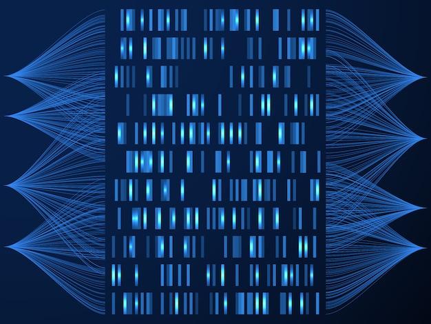 Carte médicale des tests de génome
