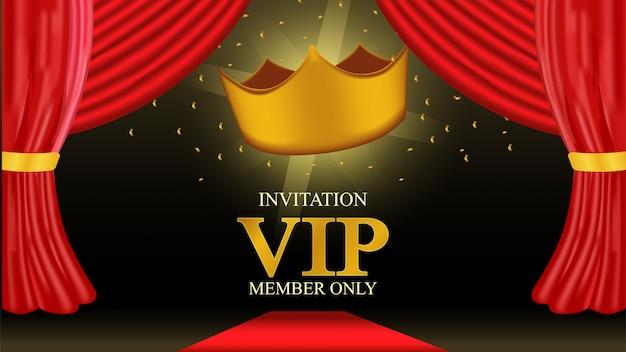 Carte de membre vip avec couronne d'or