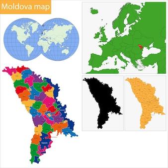 Carte de moldavie