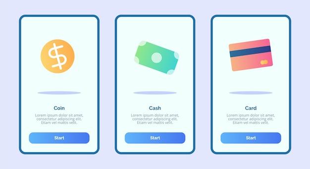 Carte de monnaie pour les applications mobiles