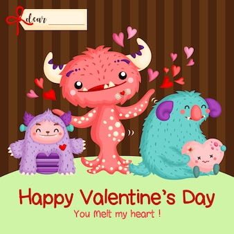 Carte monstre valentine