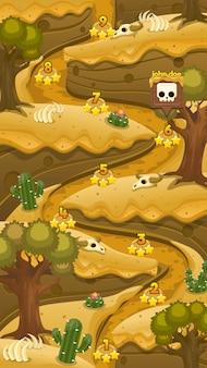 Carte de niveau de jeu du désert