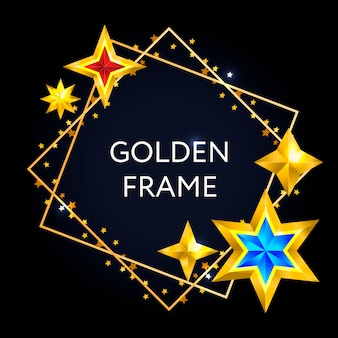 Carte de noël abstraite vintage avec étoiles cadre élément de conception de vecteur de noël.
