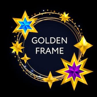 Carte de noël abstraite vintage avec étoiles cadre noël