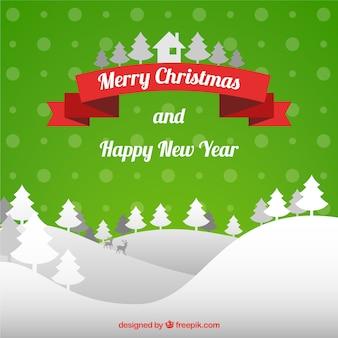 Carte de noël et du nouvel an