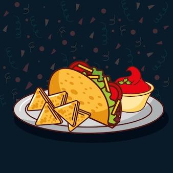 Carte de la nourriture mexicaine