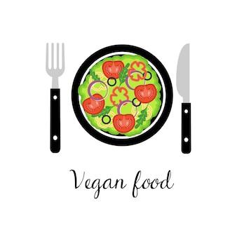 Carte de nourriture végétalienne.
