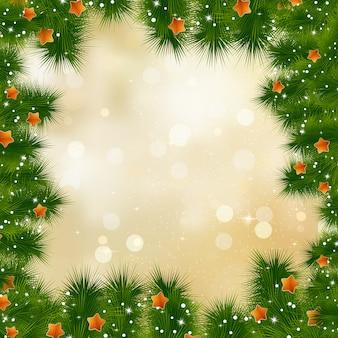 Carte De Nouvel An Et Cristmas. Vecteur Premium
