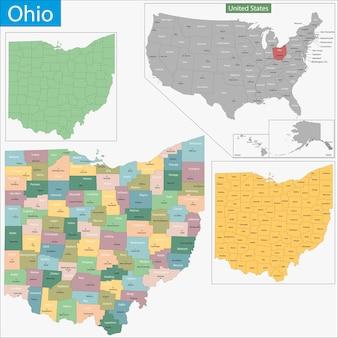 Carte de l'ohio