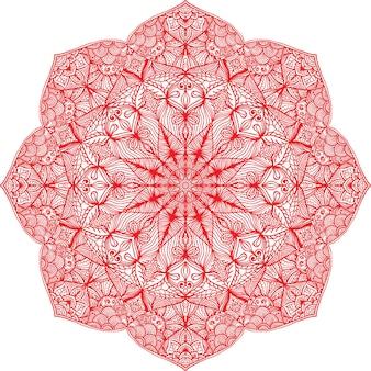 Carte ornementale avec mandala. éléments décoratifs vintage. arrière-plan dessiné à la main. logo.