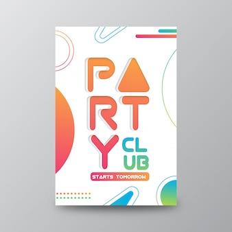 Carte d'ouverture du club de fête