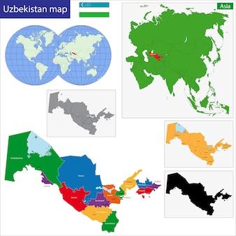Carte de l'ouzbékistan